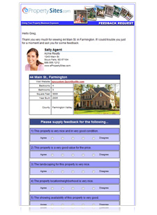 Real Estate Feedback Form | Contact | Lead