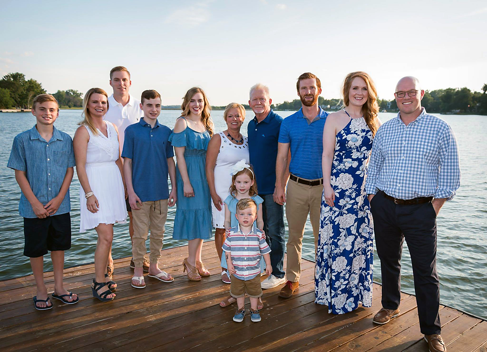 Scott V. and Kim with entire family at Weatherby Lake.